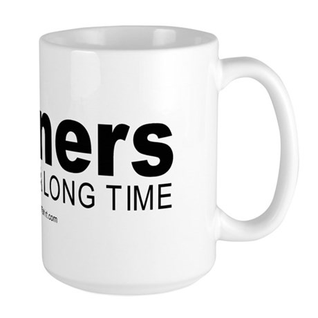 Runners keep it up for hours - Large Mug