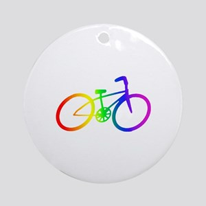 Biking Ornament (Round)