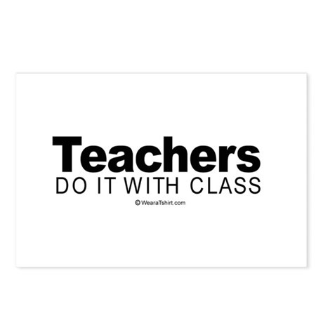 Teachers do it with class - Postcards (Package of