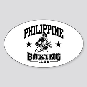 Philippine Boxing Sticker (Oval)