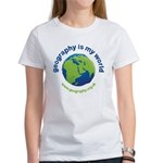 'Geography is my World' Women's T-Shirt