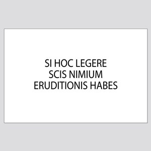 ERUDITIONIS HABES Large Poster