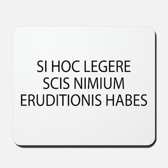 ERUDITIONIS HABES Mousepad