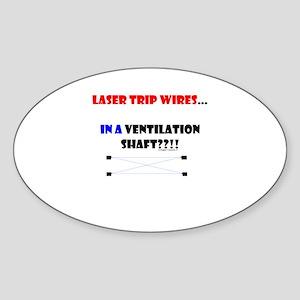 Laser Trip Wires?? 01 Sticker (Oval)