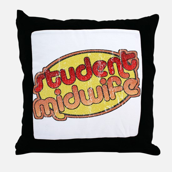 Student Midwife (faded) Throw Pillow