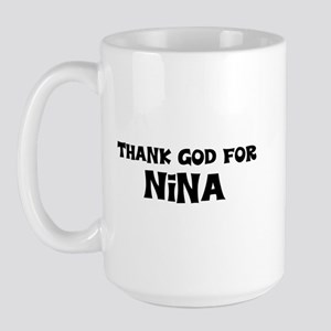 Thank God For Nina Large Mug