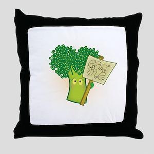 """Eat Me!"" Vegetarian Throw Pillow"