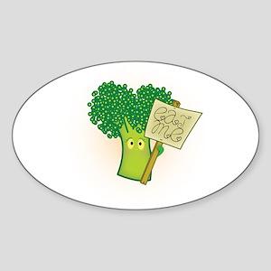 """Eat Me!"" Vegetarian Sticker (Oval)"
