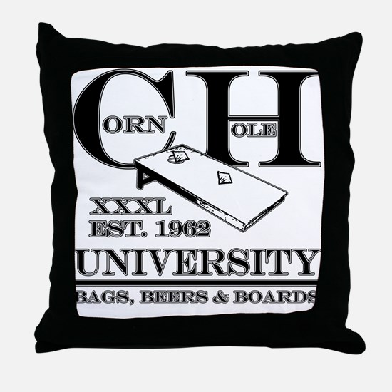 Cornhole University - Bags, B Throw Pillow