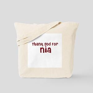 Thank God For Nia Tote Bag