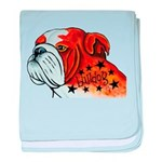 BullDog Art baby blanket
