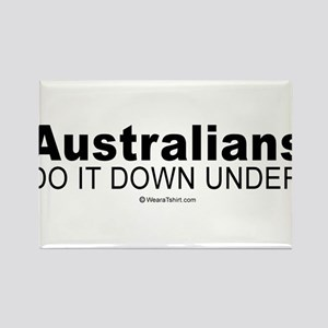 Australians do it down under - Rectangle Magnet