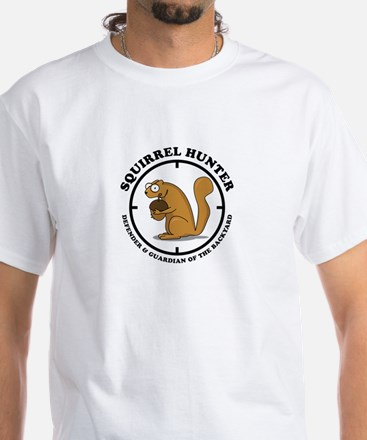 Squirrel Hunter White T-Shirt