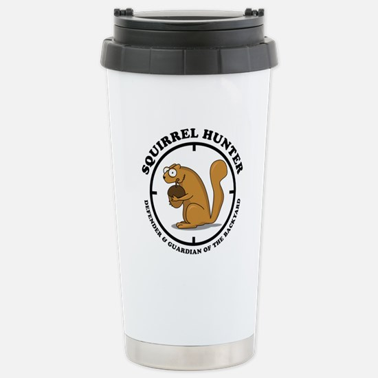 Squirrel Hunter Stainless Steel Travel Mug