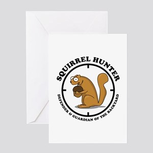 Squirrel Hunter Greeting Card