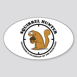 Squirrel Hunter Sticker (Oval)