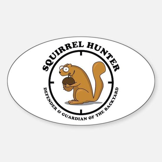 Squirrel Hunter Sticker (Oval)