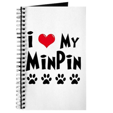 I Love My Min Pin Journal