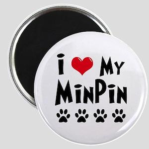 I Love My Min Pin Magnet