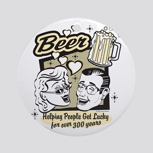 Bowling - Beer Ornament (Round)