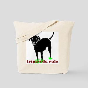 Tripawds Rule Rear Leg Lab Tote Bag