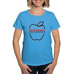 Black Apple Outline Women's Dark T-Shirt