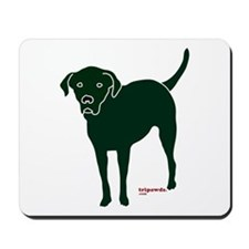 Tripawds Rear Leg Black Lab Mousepad