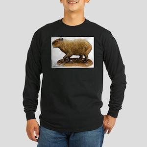 Capybara Long Sleeve Dark T-Shirt