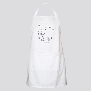 If you can read this Apron