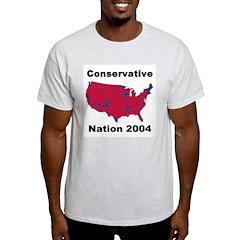 Conservative Nation 2004 Ash Grey T-Shirt