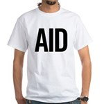 Aid (black) White T-Shirt