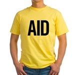 Aid (black) Yellow T-Shirt