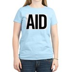 Aid (black) Women's Pink T-Shirt