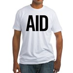 Aid (black) Fitted T-Shirt