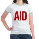 Aid (red) Jr. Ringer T-Shirt