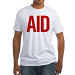 Aid (red) Fitted T-Shirt