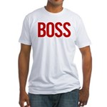 Boss (red) Fitted T-Shirt