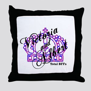 Victoria and Albert are Total Throw Pillow
