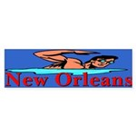 New Orleans Flood Bumper Sticker