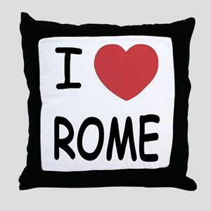 I heart Rome Throw Pillow