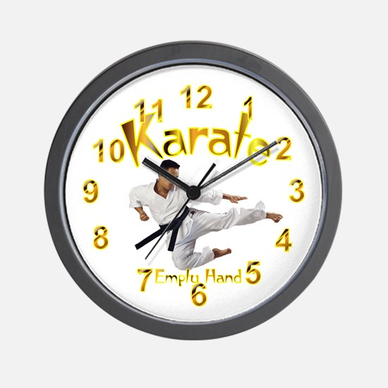 Karate Wall Clock 10inch