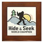 Bigfoot Hide & Seek World Champion Framed Tile