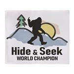 Bigfoot Hide & Seek World Champion Throw Blanket