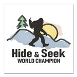 Bigfoot Hide & Seek World Champion Square Car Magn