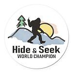 Bigfoot Hide & Seek World Champion Round Car Magne