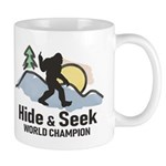 Bigfoot Hide & Seek World Champion Mugs