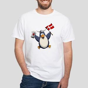 Denmark Penguin White T-Shirt
