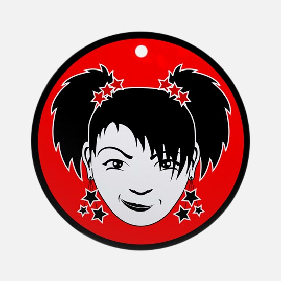 The Little Miss Rock'n'Roll Ornament (Round)