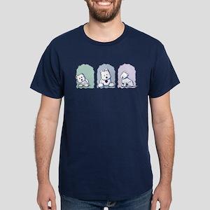 Westie Pastel Trio Dark T-Shirt