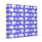 Polar Bear Pattern 8x8 Canvas Print